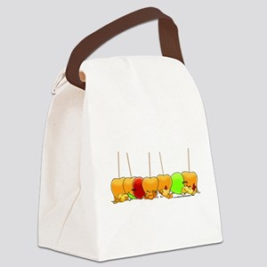 Caramel Apples Canvas Lunch Bag